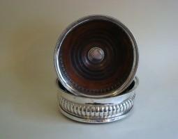 George III silver coasters