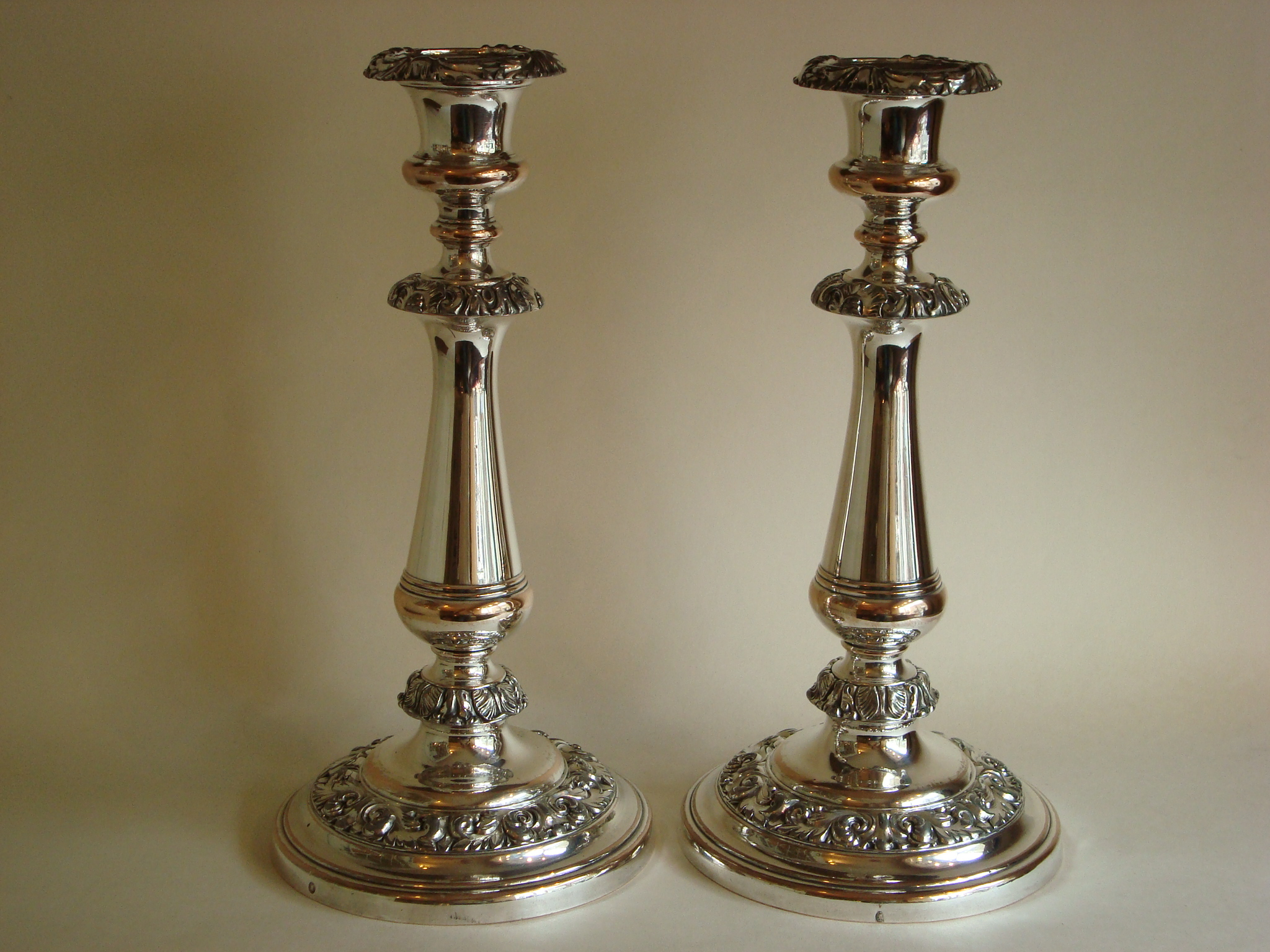 Old Sheffield Plate Candlesticks SOLD Henry Willis