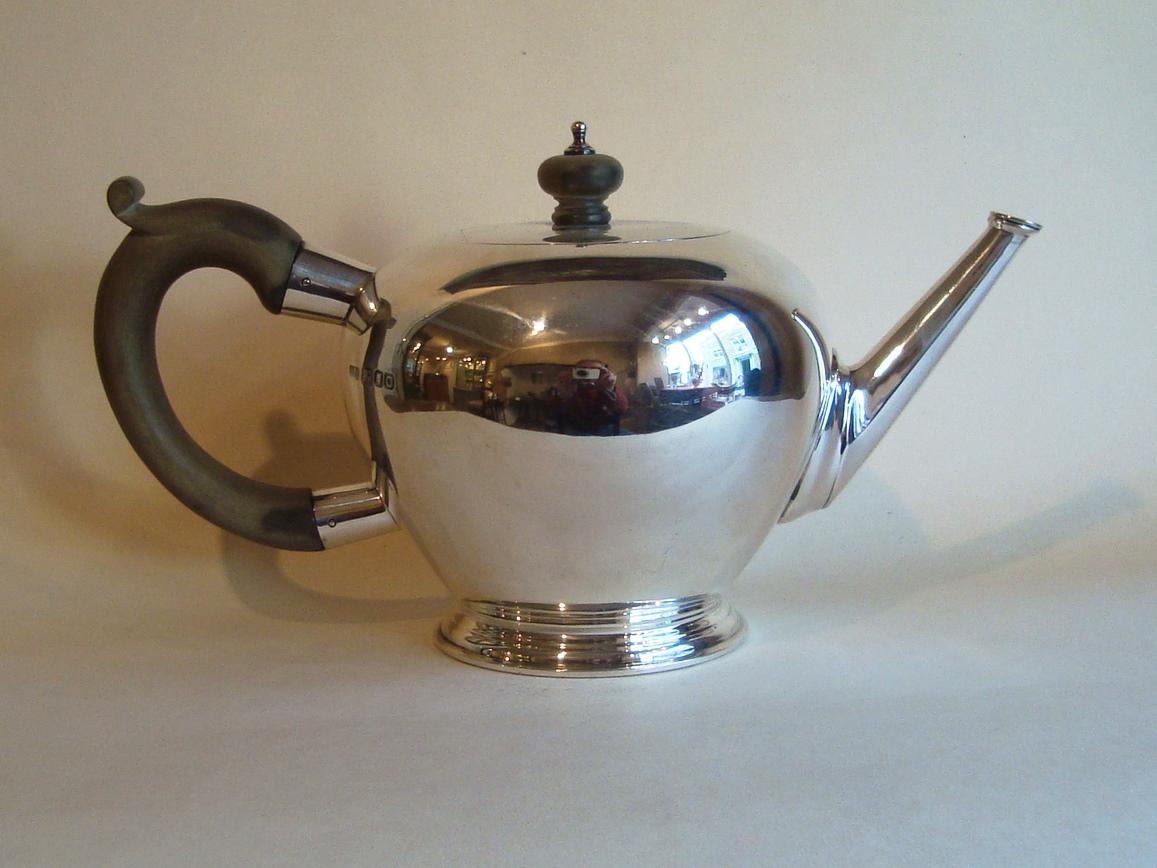 Silver Bullet Teapot SOLD Henry Willis Antique