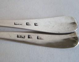 Pair of Scottish provincial teaspoons