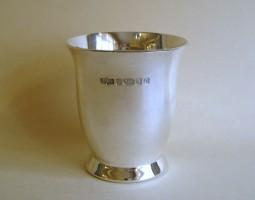 Modern silver beaker