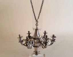 Miniature silver chandelier