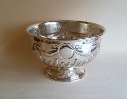 Victorian silver rose bowl