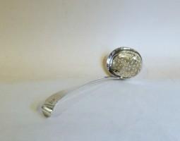 George III silver sugar sifter spoon