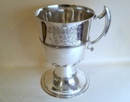 Fishmongers Edwardian silver jug