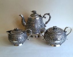 Indian silver teaset
