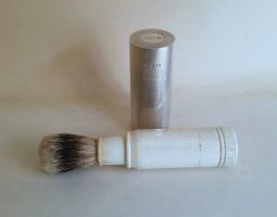 Silver shaving brush
