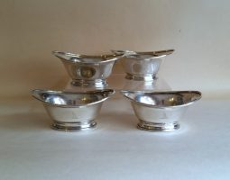 Set of four George III silver salts