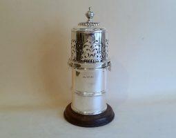 Victorian silver sugar caster