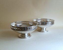 Pair of Elkington silver bowls