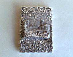 Osborne House Victorian silver card case