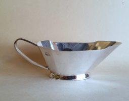 Art Deco silver sauceboat