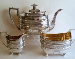 George III Scottish silver teaset