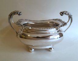 Edwardian silver sugar bowl