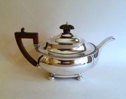 Small Victorian silver teapot