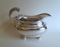 Edwardian silver cream jug