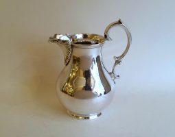 Victorian silver cream jug
