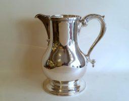 Silver beer jug