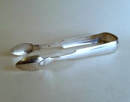 Scottish provincial silver tongs