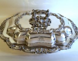 William IV Old Sheffield plate entree dish