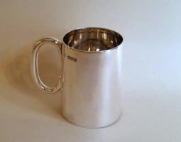 Victorian silver Christening mug