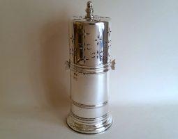 Edwardian silver lighthouse sugar caster