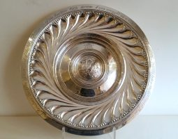 Omar Ramsden silver charger dish