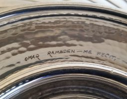 Ramsden silver charger signature