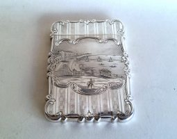 Brighton chain pier silver card case