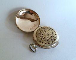 George III silver watch vinaigrette