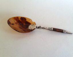17th century dutch folding spoon silver tortoiseshell