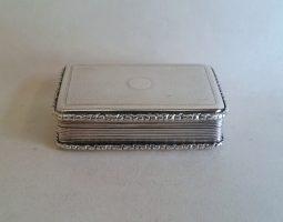 Victorian silver snuff box