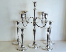 Suite of silver candlesticks