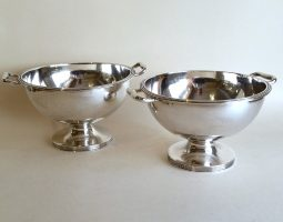 Pair of French silver bowls