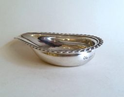George III silver pap boat