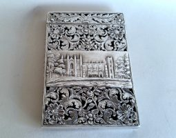 Silver card case Newstead Abbey