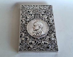 Victorian card case silver Byron