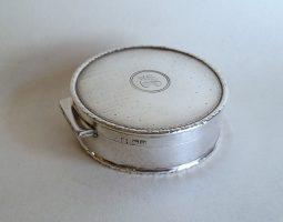 Edwardian silver dressing table box