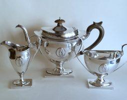 Three piece silver teaset