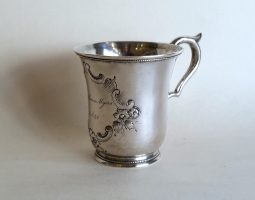 American silver mug