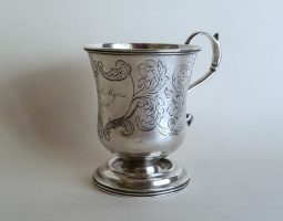 Mid 19th century American silver mug