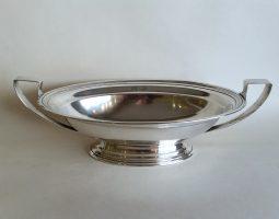 American silver dish