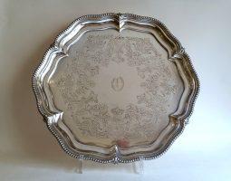 Edwardian silver salver