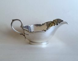 Small silver sauceboat