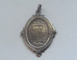 Charles I royalist badge silver reverse