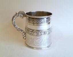 George IV silver Christening mug