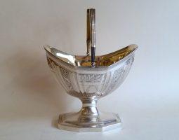 George III silver sugar basket