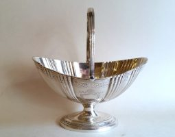 Victorian silver sugar basket