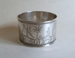 Indian colonial silver napkin ring