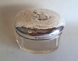 Edwardian silver topped pot